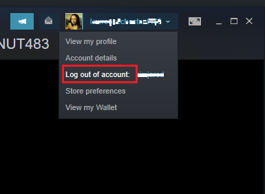Re-Login into your Steam Account