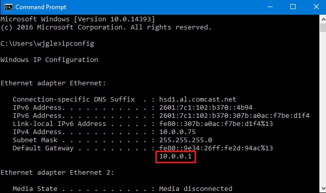 Find the Router's IP Address on Windows