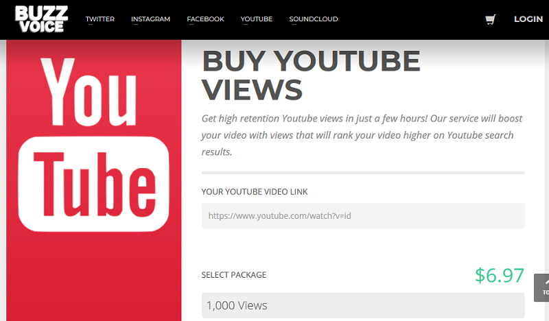 BuzzVoice Buy YouTube Views, Likes and Subscribers