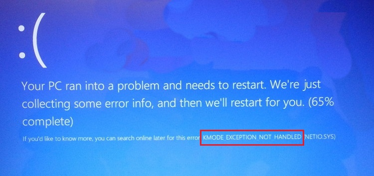 Kmode Exception Not Handled in Windows 10, 8 and 7 Error