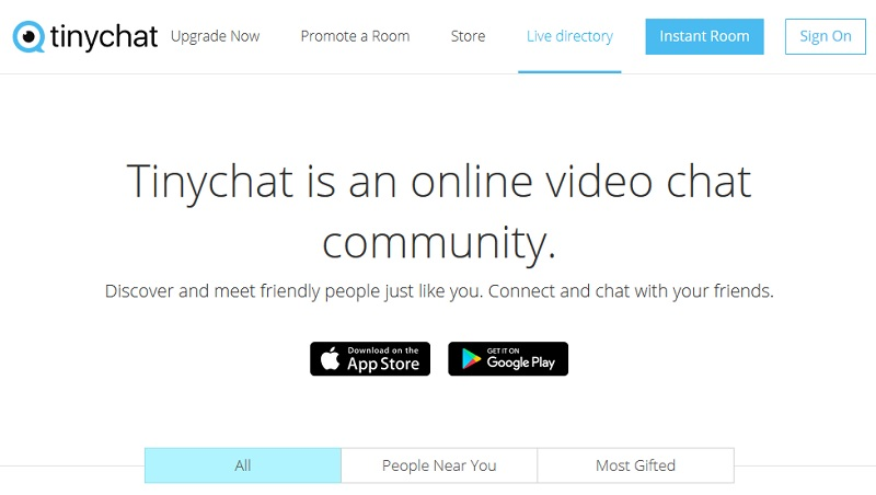 TinyChat - Best Alternative to Chatroulette to Chat Randomly