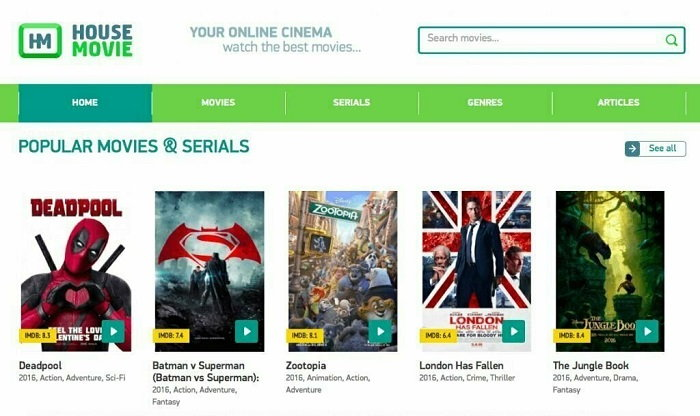 Alternatives to House Movie for Watching Free Movies Online