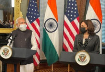 Modi Meets Kamala Harris Ahead of Bilateral Talks With Biden and Quad Summit